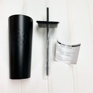 Starbucks Cold Cup Matte Black Steel Tumbler 24 oz NWT